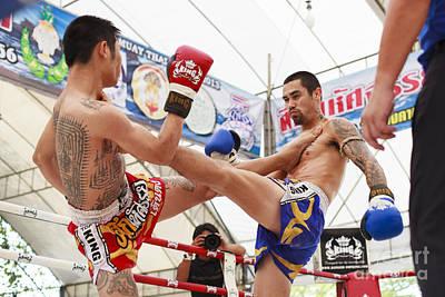 Thai Boxing Match Poster by Anek Suwannaphoom