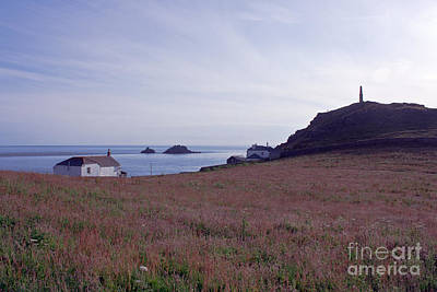 View From St Helen's Oratory Cape Cornwall Poster by Terri Waters