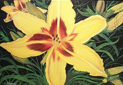 Yellow Lily Poster by Sharon Duguay
