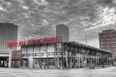 0038 Milwaukee Public Market Poster by Steve Sturgill