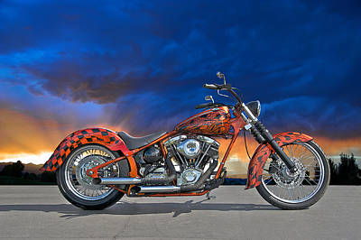 02 Hd Custom Bike Poster by Dave Koontz