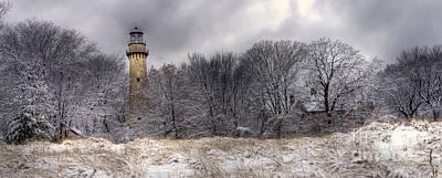 0243 Grosse Point Lighthouse Evanston Illinois Poster by Steve Sturgill