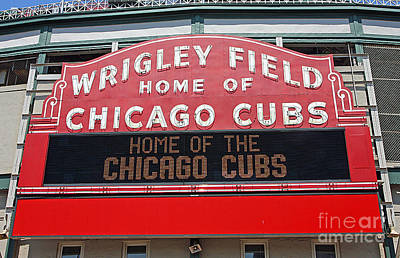 Chicago Poster featuring the photograph 0334 Wrigley Field by Steve Sturgill