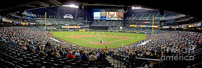 0434 Safeco Field Panoramic Poster by Steve Sturgill