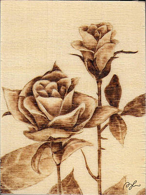 #7 - Two Roses Poster by Perry Chow