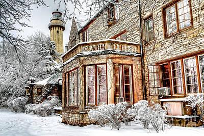 0871 Grosse Point Lighthouse - Evanston Illinois Poster by Steve Sturgill