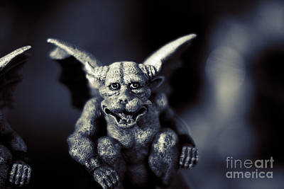 Evil Gargoyle Statue Poster by Jorgo Photography - Wall Art Gallery
