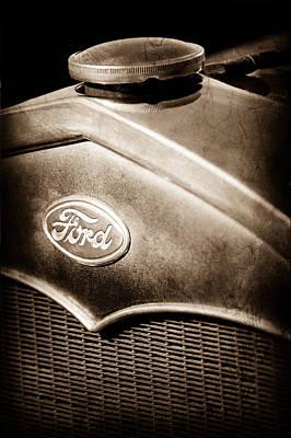 1931 Ford Grille Emblem Poster by Jill Reger