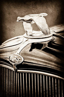 1932 Ford V8 Hood Ornament - Emblem Poster by Jill Reger