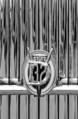 1932 Stutz Dv-32 Super Bearcat Emblem Poster by Jill Reger