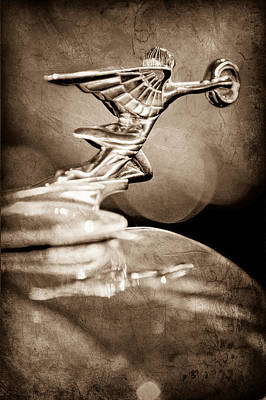 1934 Packard Coupe Hood Ornament Poster by Jill Reger