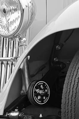1939 Aston Martin 15-98 Abbey Coachworks Swb Sports Suspension Control Poster by Jill Reger