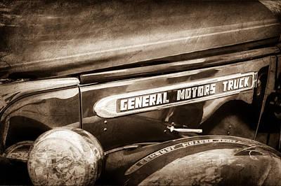1940 Gmc General Motors Truck Emblem Poster by Jill Reger