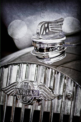 1952 Morgan Plus 4 Hood Ornament - Emblem Poster by Jill Reger
