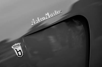 1953 Aston Martin Db2-4 Bertone Roadster Emblems Poster by Jill Reger