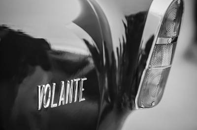 1956 Aston Martin Short Chassis Volante Taillight Emblem Poster by Jill Reger