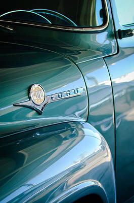 1956 Ford F-100 Truck Emblem Poster by Jill Reger