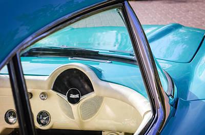 1957 Chevrolet Corvette Dashboard Poster by Jill Reger