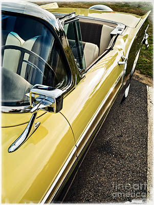 1957 Ford Fairlane 500 Skyliner Retractable Hardtop Convertible Poster by Edward Fielding