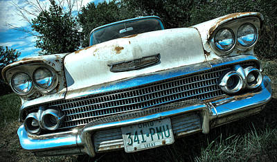 1958 Chevy Bel Air Poster by Gordon Dean II