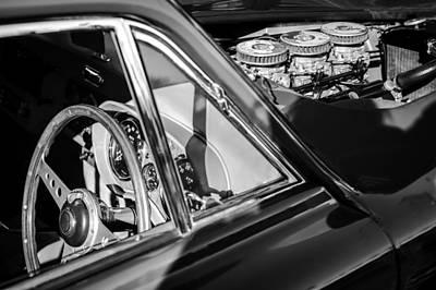 1960 Ac Aceca-bristol Steering Wheel - Engine Poster by Jill Reger