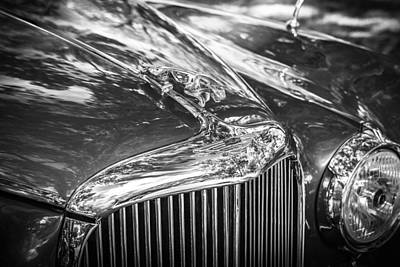 1961 Jaguar Mark Ix Saloon Bw Poster by Rich Franco