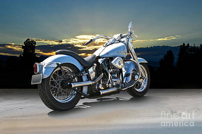 1964 Harley-davidson Duo Glide Poster by Dave Koontz