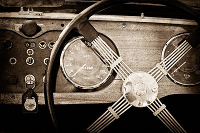 1965 Morgan Plus 4 Steering Wheel Poster by Jill Reger