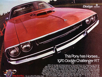 1970 Dodge Challenger R/t  Poster by Digital Repro Depot