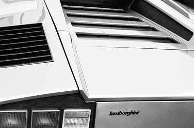 1976 Lamborghini Countach Lp400 Taillight Emblem Poster by Jill Reger