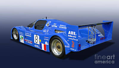 1983 Sauber C6 Group C Race Car Poster by Tad Gage
