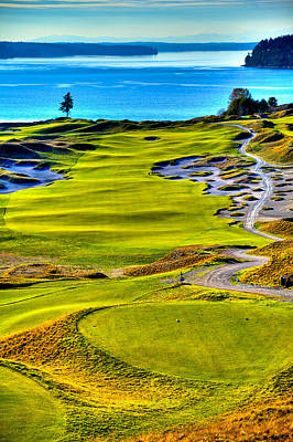 #5 At Chambers Bay Golf Course - Location Of The 2015 U.s. Open Tournament Poster by David Patterson