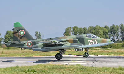 A Bulgarian Air Force Su-25 Jet Poster by Giovanni Colla