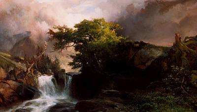 A Mountain Stream Poster by Thomas Moran