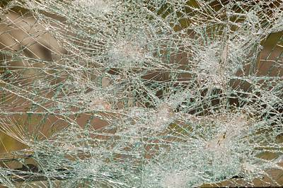 A Vehicle With A Smashed Windscreen Poster by Ashley Cooper