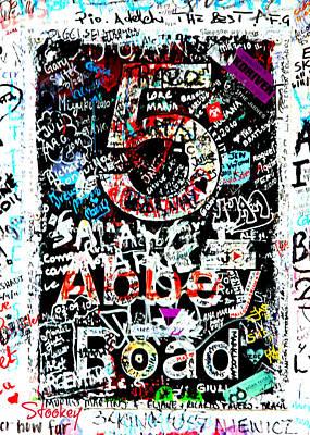 Abbey Road Graffiti Poster by Stephen Stookey