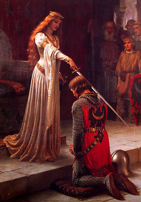 Accolade Poster by Edmund Blair Leighton