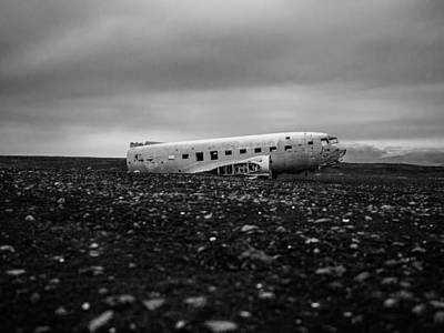 Airplane Relic In Iceland Poster by Mountain Dreams