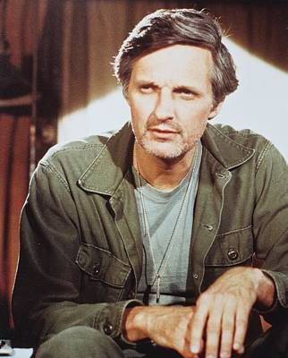 Alan Alda In M*a*s*h  Poster by Silver Screen