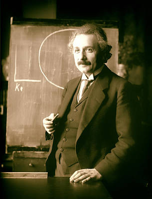 Albert Einstein In The Classroom Poster by Mountain Dreams