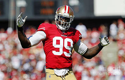 Aldon Smith Poster by Marvin Blaine
