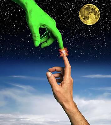 Alien Lifeform Poster by Victor De Schwanberg