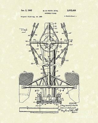 Amusement Ride 1962 Patent Art Poster by Prior Art Design