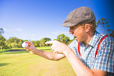 Angry Golf Poster by Jorgo Photography - Wall Art Gallery