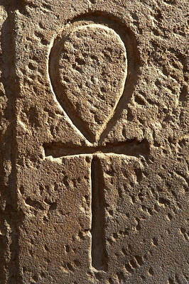Ankh Or Key Of Life Poster by Prisma Archivo