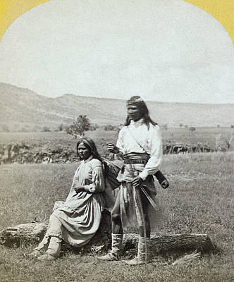 Apache Couple, C1873 Poster by Granger