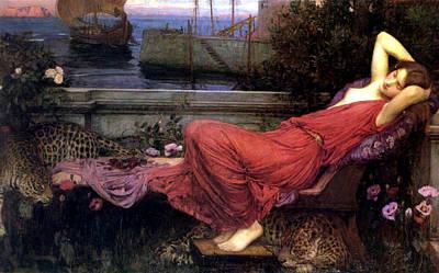 Ariadne Poster by John William Waterhouse