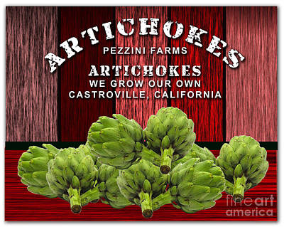 Artichokes Farm Poster by Marvin Blaine