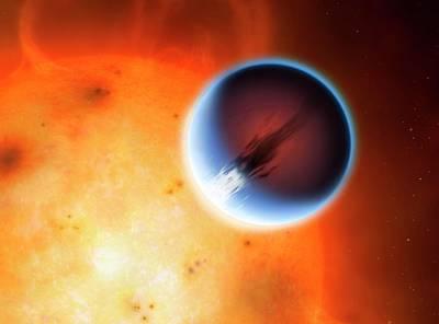 Artwork Of Planet Hd189733b Poster by Mark Garlick