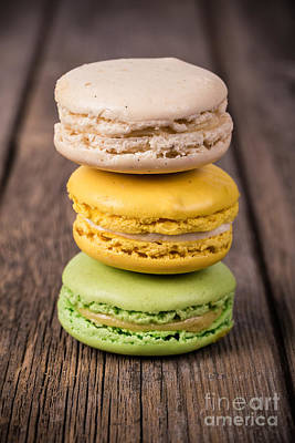 Assorted Macaroons Vintage Poster by Jane Rix